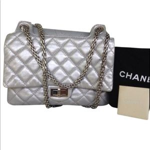 Channel silver purse